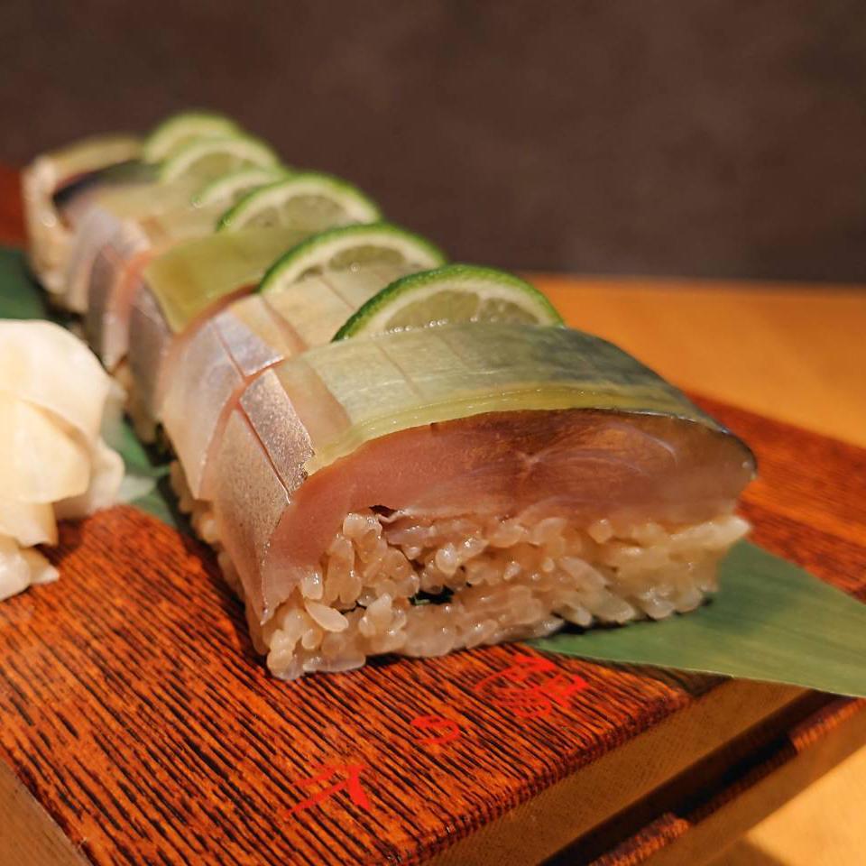 鯖寿司完成
